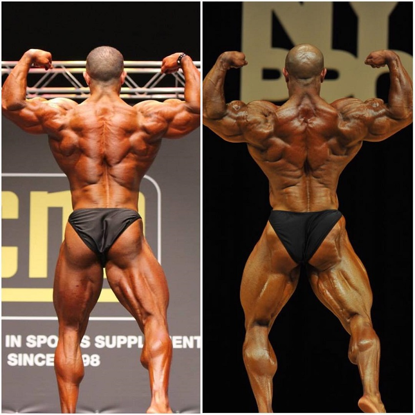 Sasan Heirati's transformation on the bodybuilding stage, before-after