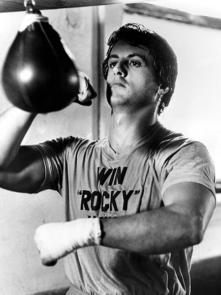Sylvester Stallone training for The Rocky movie role