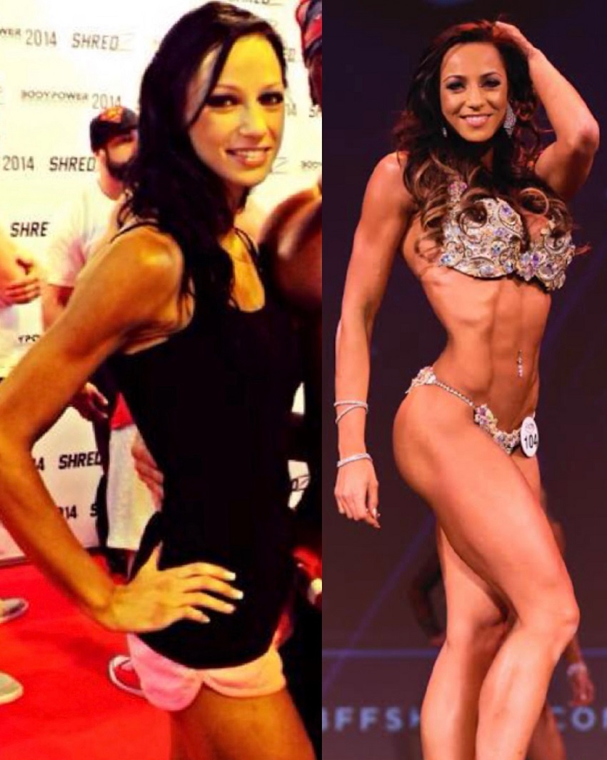 Amy Leigh-Quine's transformation in fitness bikini