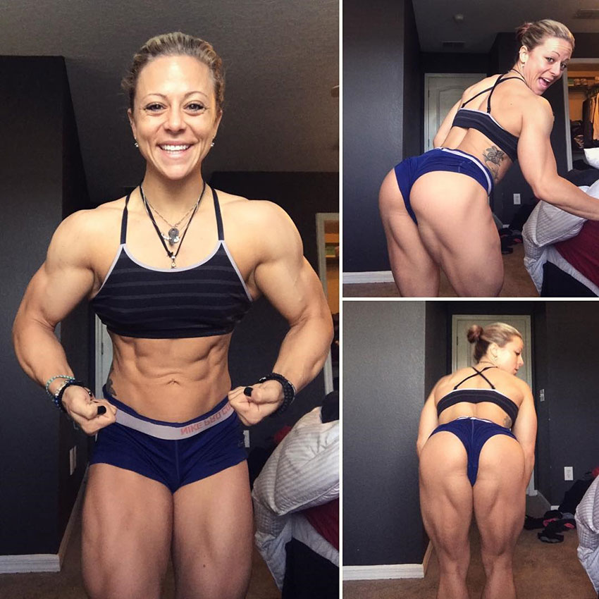 Dani Reardon posing in multiple photos