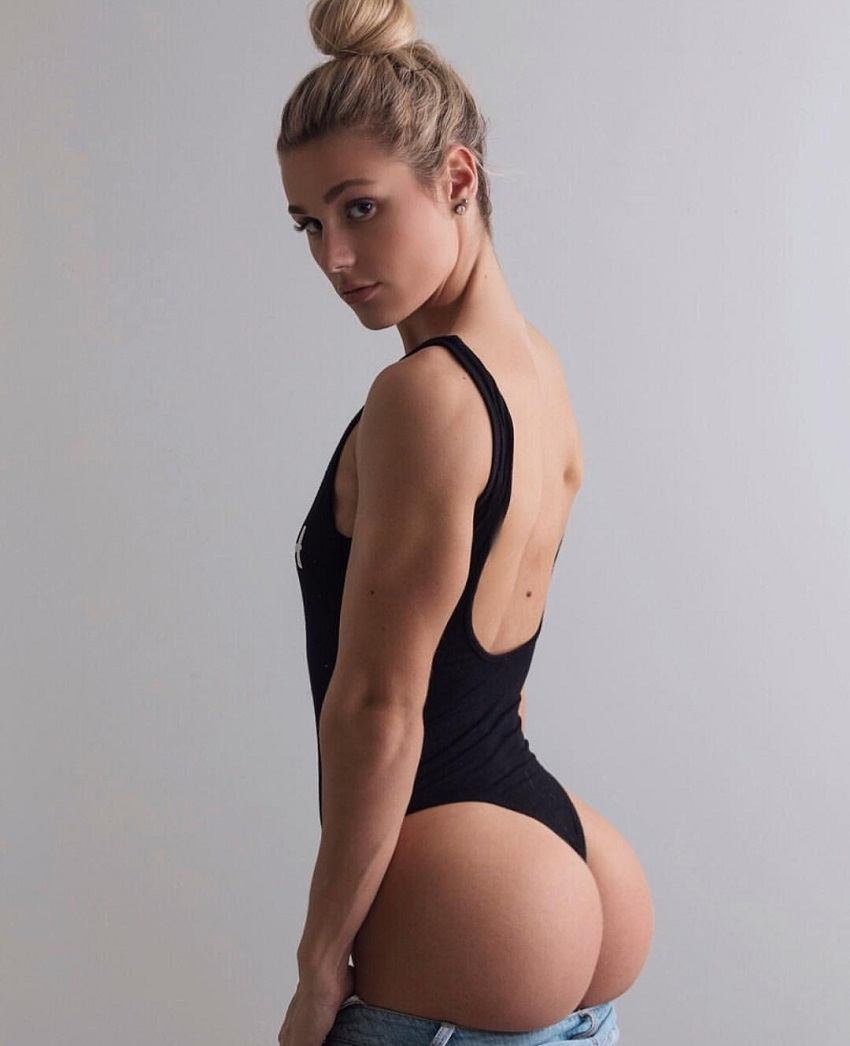 Destiny Stephens posing for a photo showcasing her attractive glutes