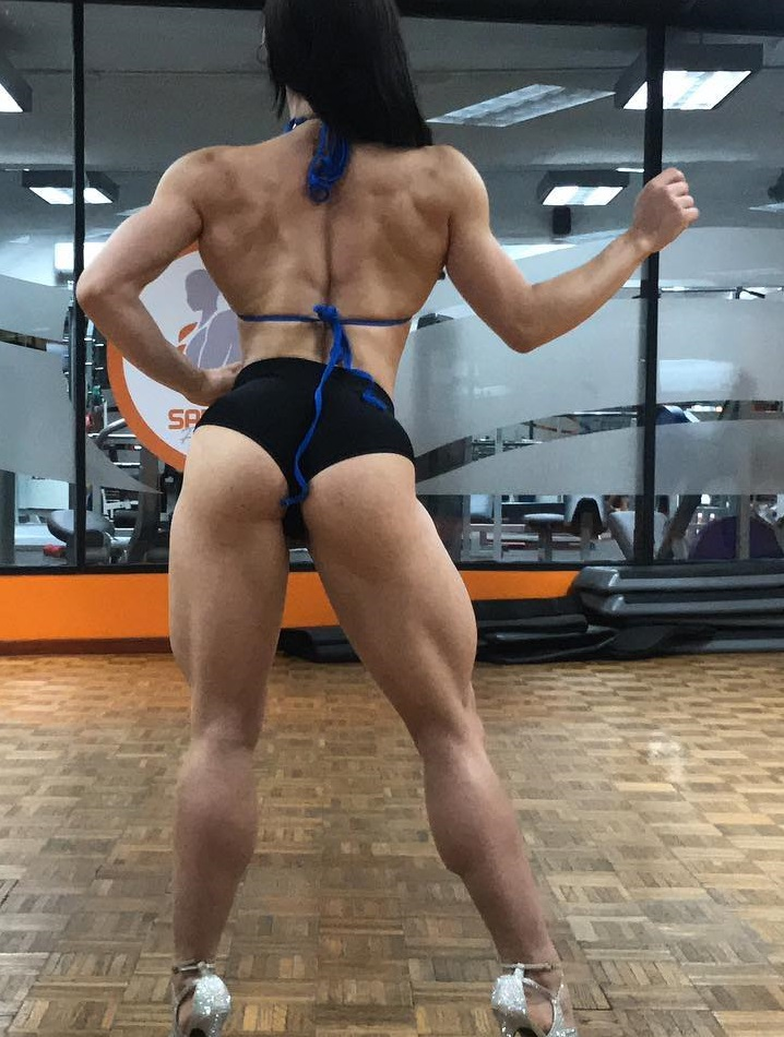 Elba Peka practicing fitness posing looking healthy and lean