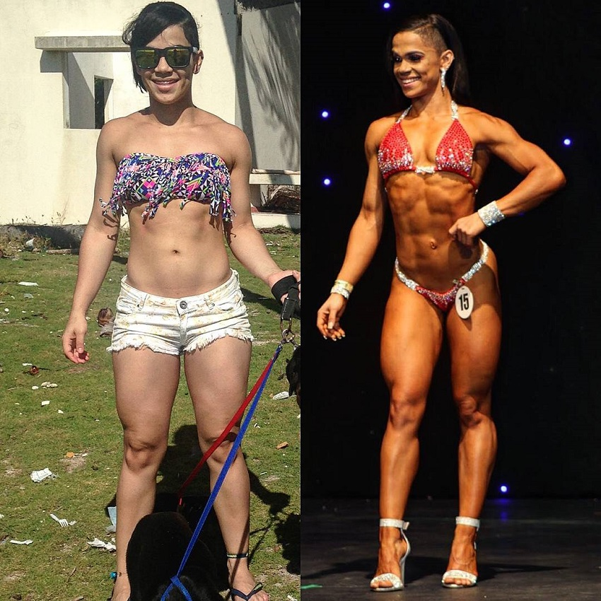 Elba Peka's fitness transformation before-after