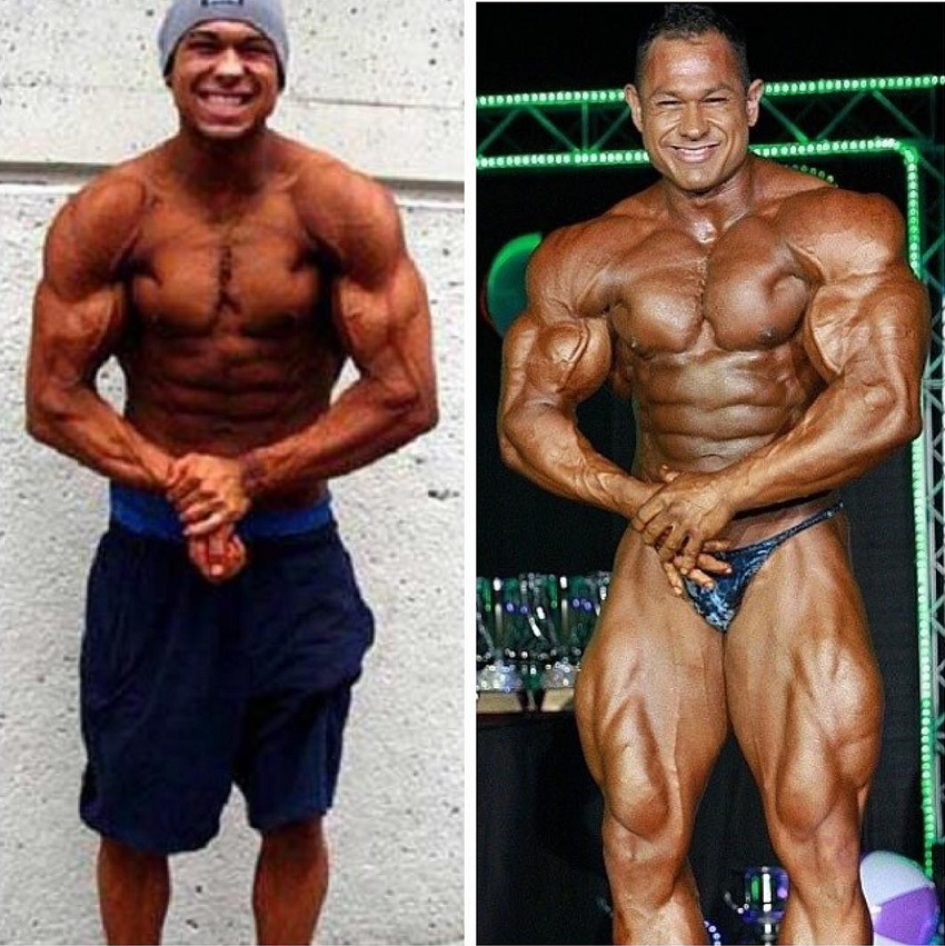 Matt Porter's bodybuilding transformation before-after