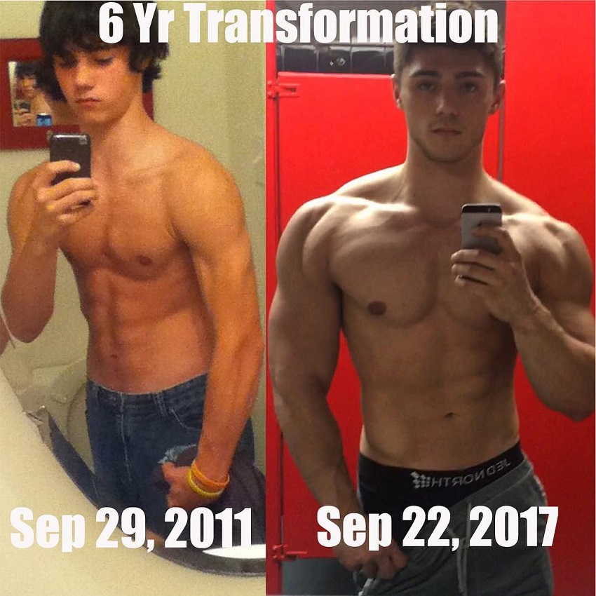 Qwin Vitale's fitness transformation before-after