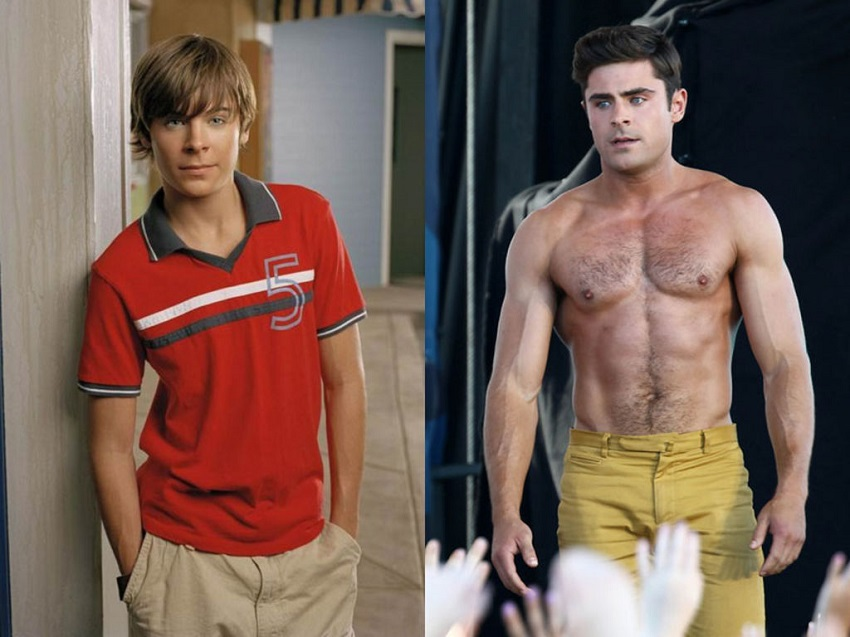 Zac Efron's fitness transformation beofre-after