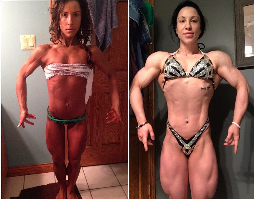 Chloe Sannito's fitness transformation before-after