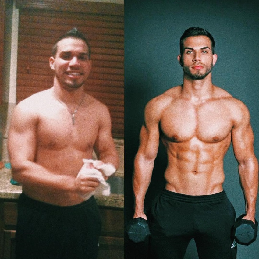 Darian Alvarez's fitness transformation before-after