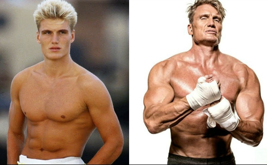Dolph Lundgren's fitness transformation before-after