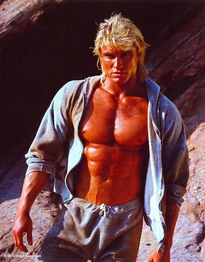 Dolph in one of his movie scenes looking ripped