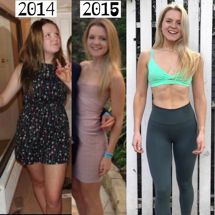 Lauren Tickner's amazing fitness transformation from 2014 to today
