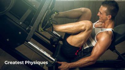 Male athlete using the leg press to build muscle and fitness