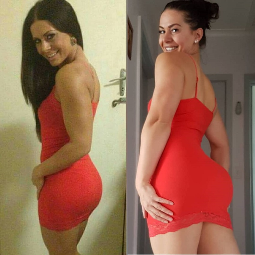 Monique de Dios fitness transformation before-after