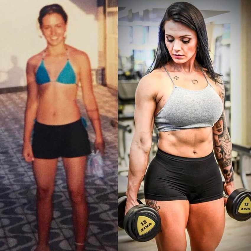 Renata Costa0s transformation in fitness before-after