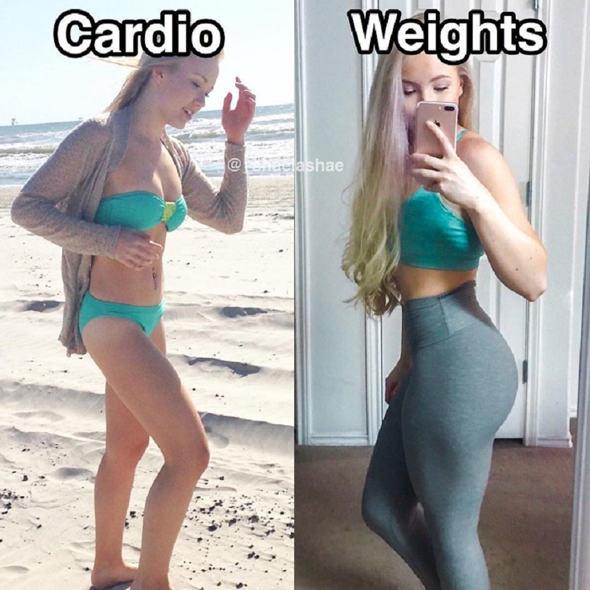 Shae LaShae's fitness transformation from cardio to weights