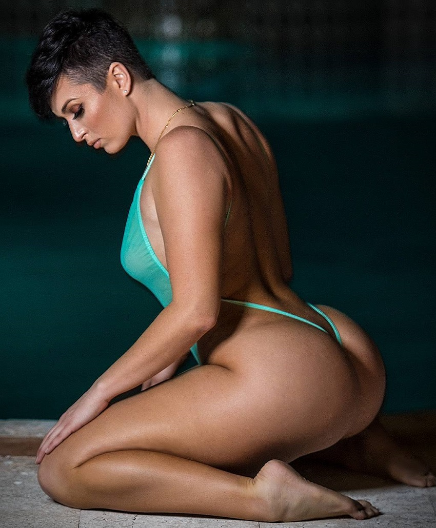 Zahra Elise posing in a photo shoot looking curvy and fit