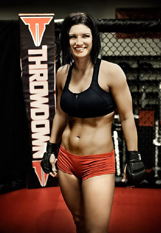 gina carano standing in a ring