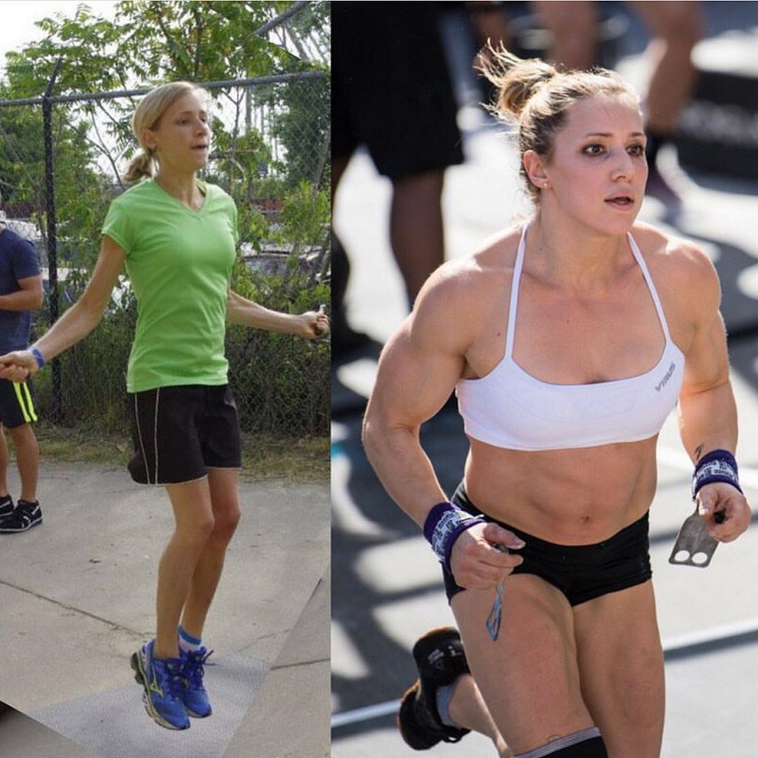 Alexis Johnson's incredible body transformation in CrossFit and fitness
