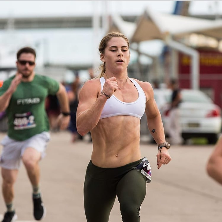 Alison Scudds sprinting in a CrossFit contest