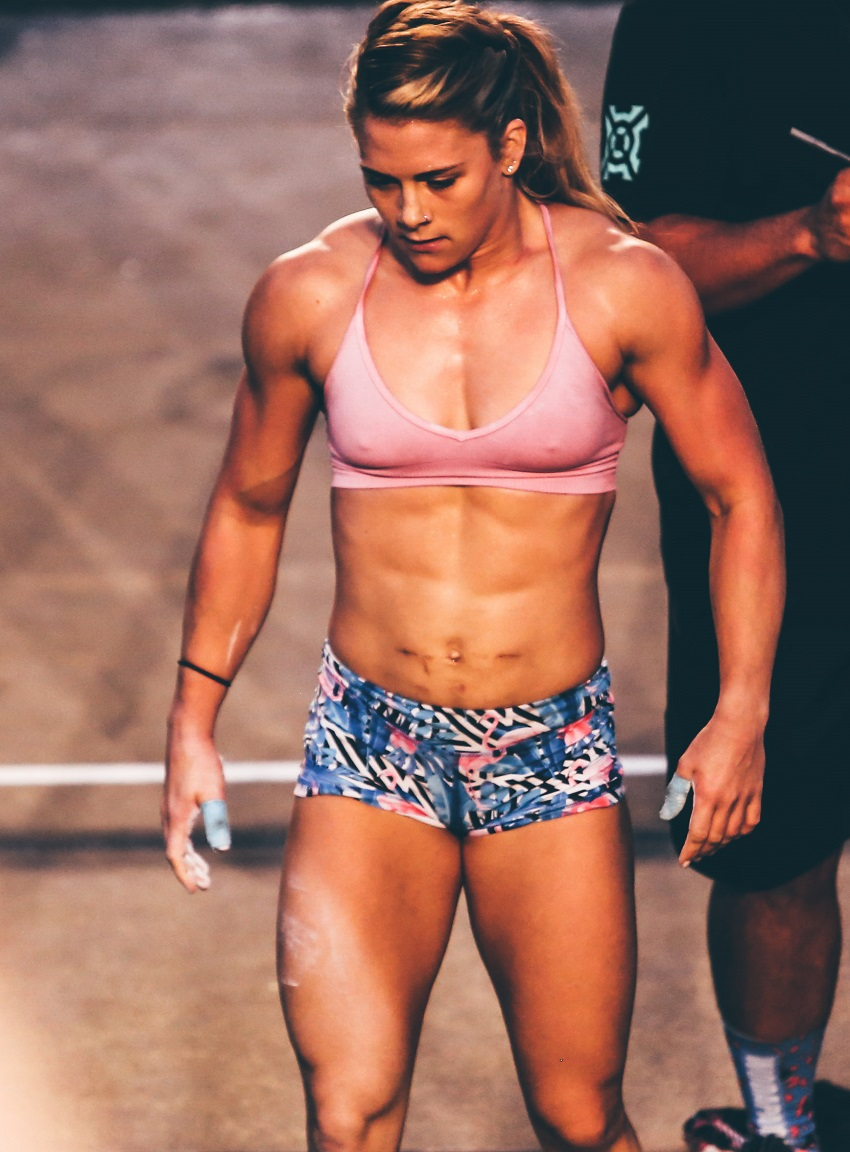 Alison Scudds competing in a CrossFit contest
