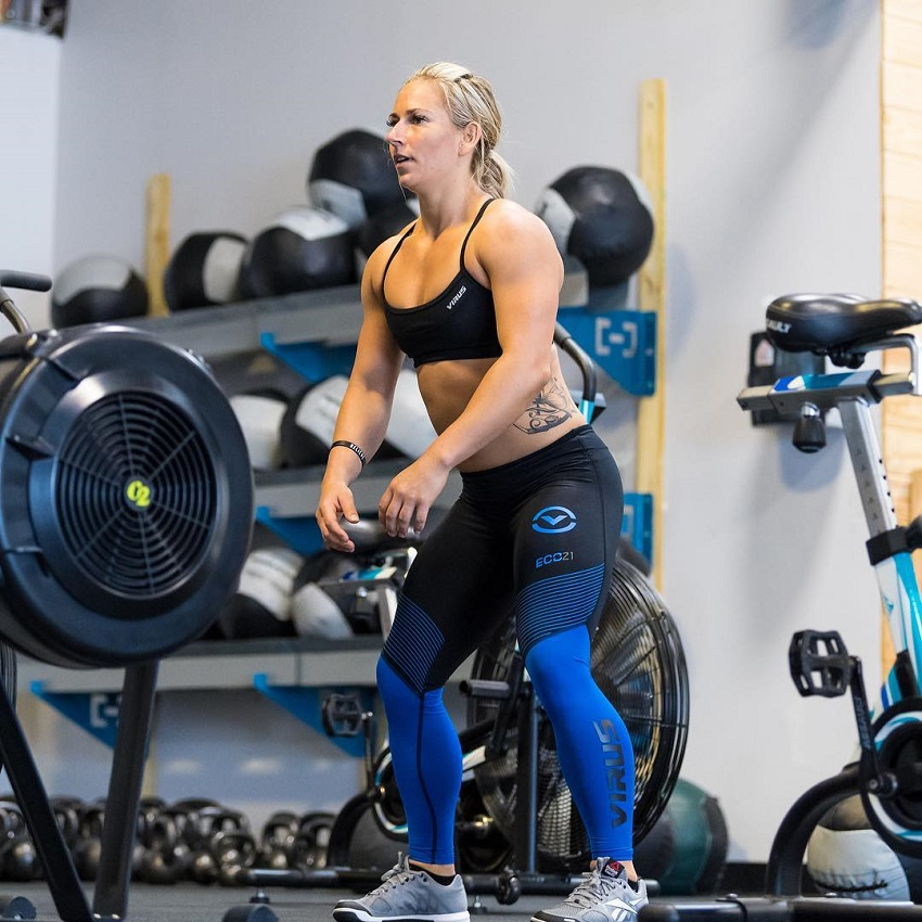 Cassidy Lance-Mcwherter training in a gym