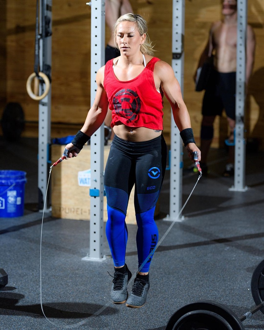 Cassidy Lance-Mcwherter doing jumping ropes looking fit and lean