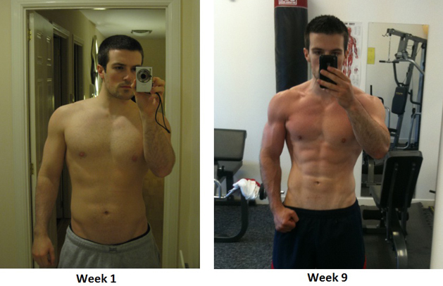 Scott Baptie's fitness transformation before-after