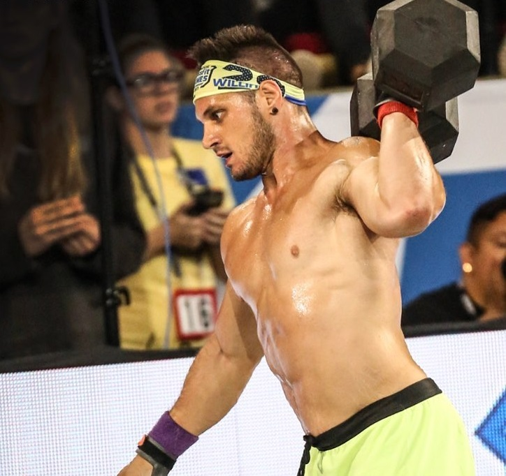 Travis Williams participating in a CrossFit contest