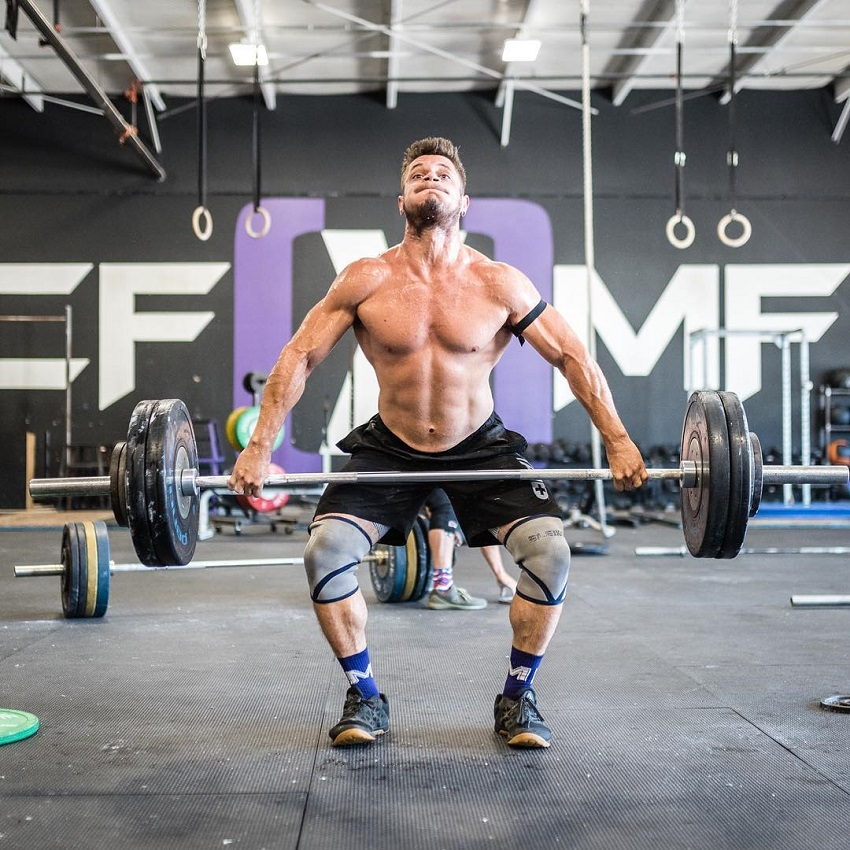Travis Williams performing the Snatch in the gym