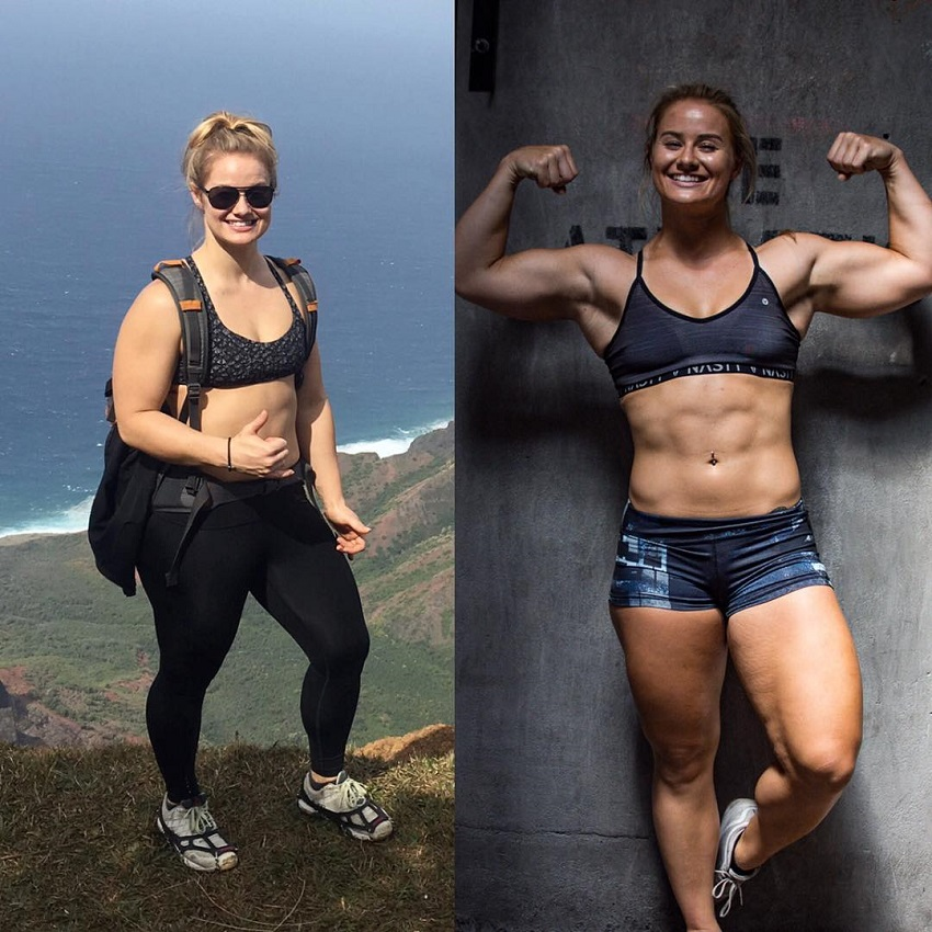 Dani Elle Speegle's transformation in CrossFit before-after