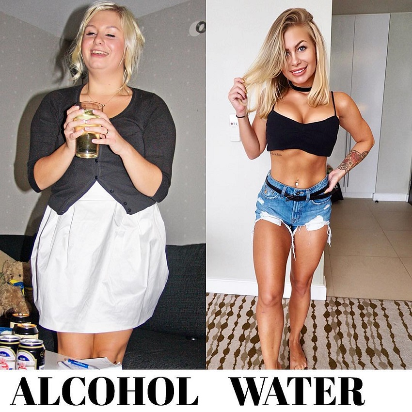 Jelly Devote's transformation from alcohol to water before-after