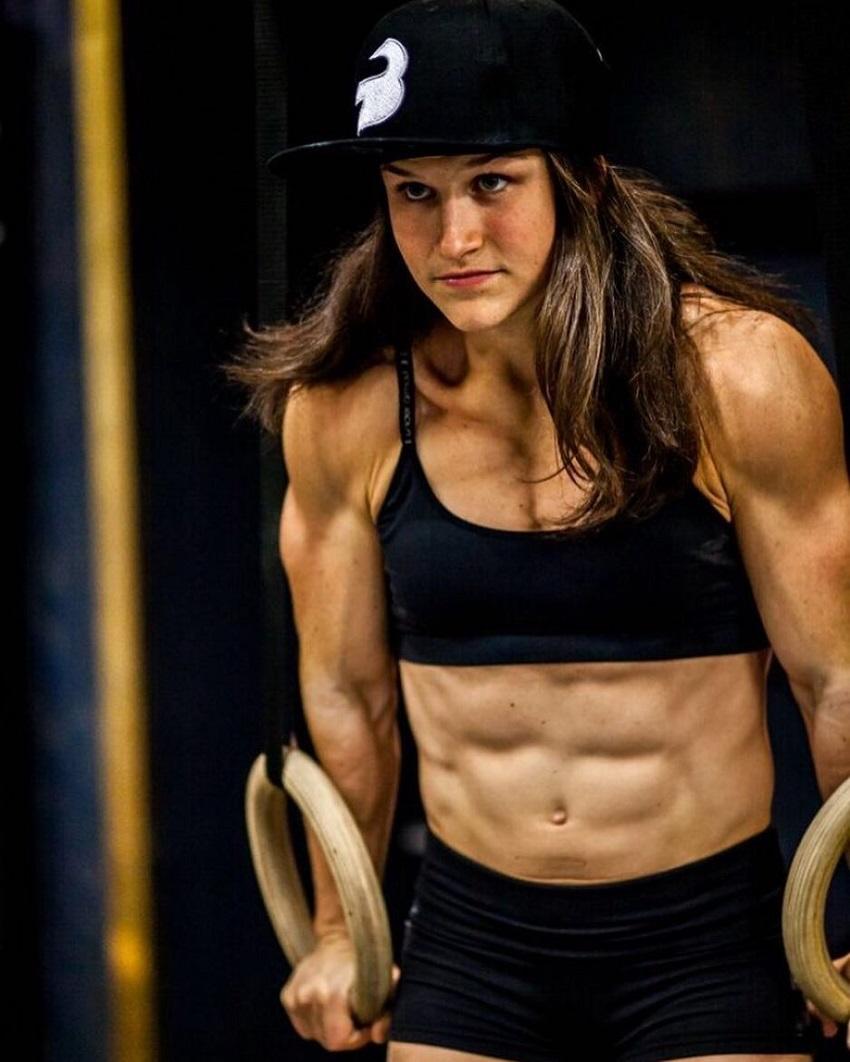 Kari Pearce training with rings