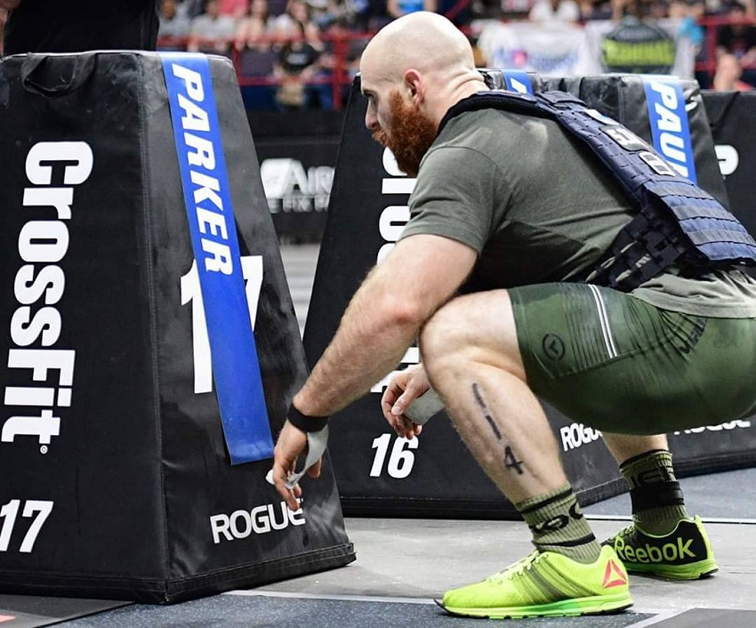 Lucas Parker competing in Crossfit event