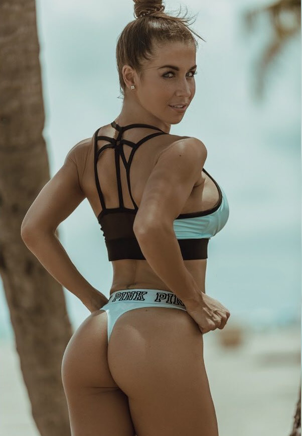 Nika Lazutina showing off her curvy glutes in a photo shoot