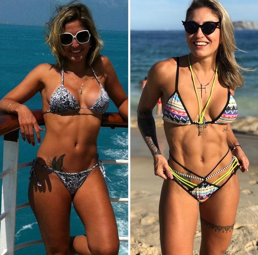 Roberta Mezencio's fitness transformation before-after