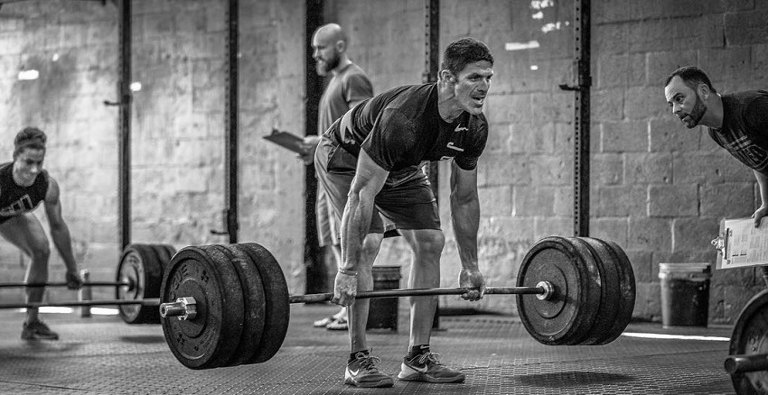 Shawn Ramirez performing heavy deadlifts during CrossFit training