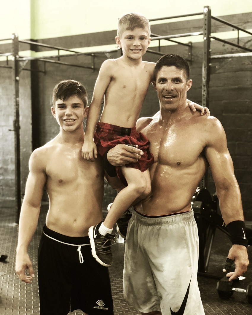 Shawn Ramirez with his two sons.