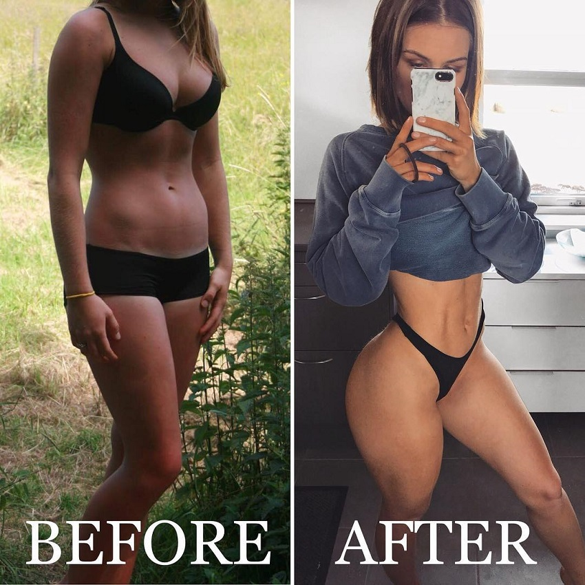 Celie Josefine Lindblad transformation photo before-after