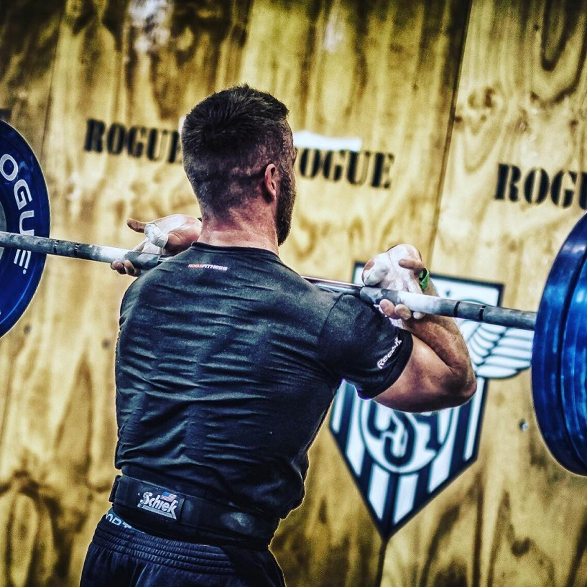Mikko Salo training during a CrossFit event