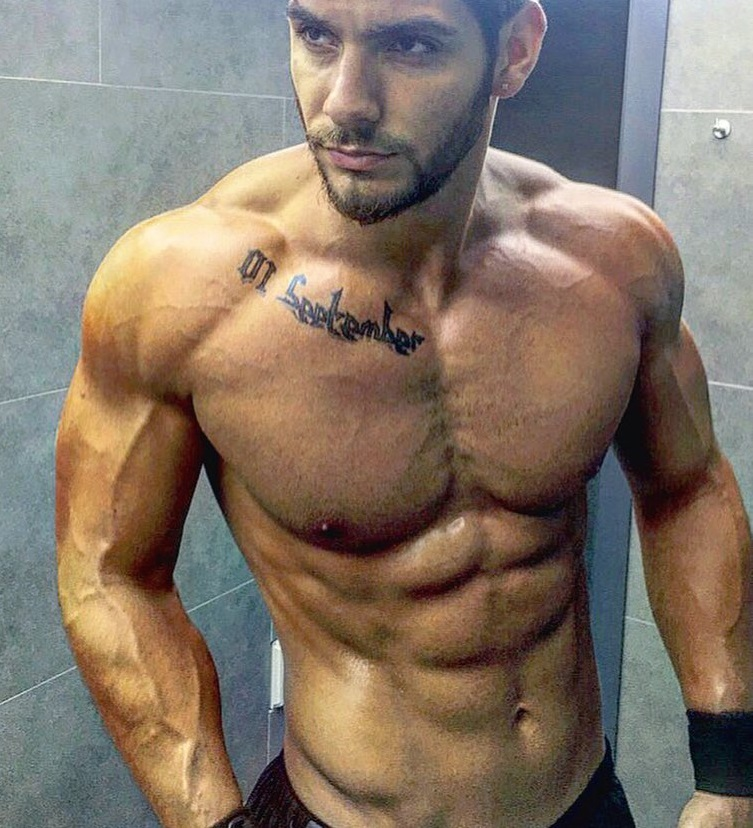 Paul Iskandar showing off his chiseled upper body for a photo