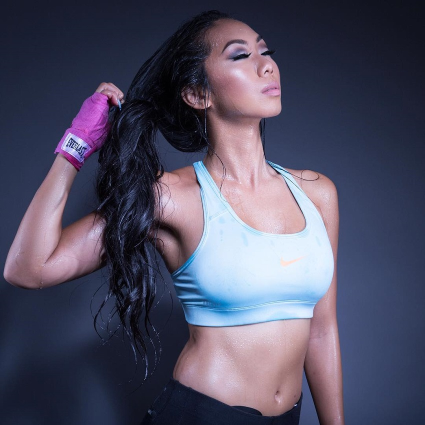 Victoria Nguyen posing for a photo looking fit and aesthetic