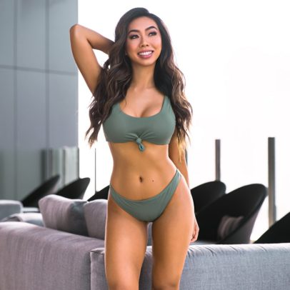 Victoria Nguyen posing for a photo looking fit and lean