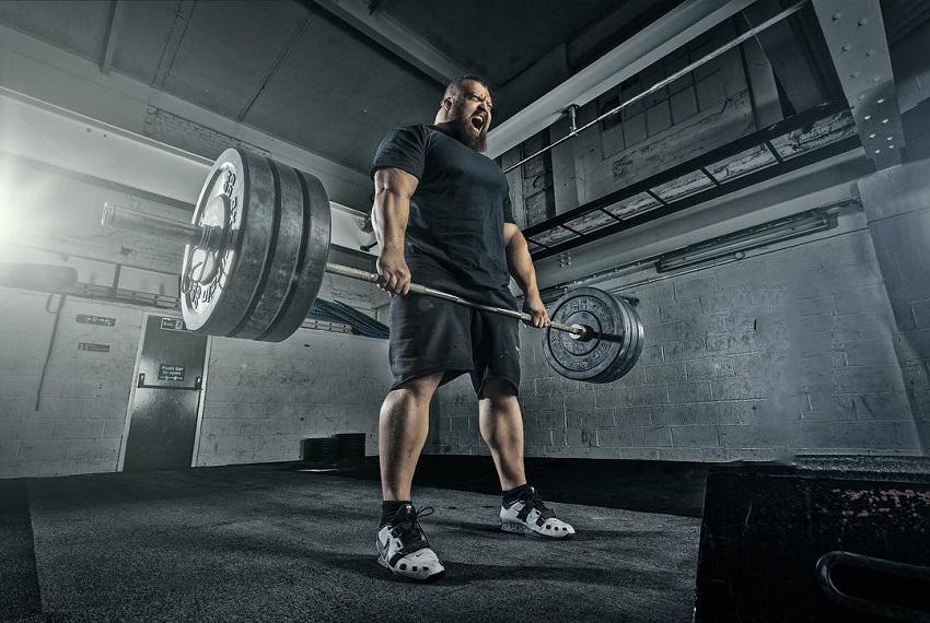 Eddie Hall lifting a heavy barbell
