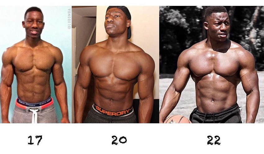Lubomba Munkuli's bodybuilding physique transformation over the years