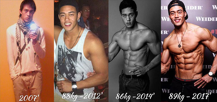 Nam Vo's fitness transformation before-after