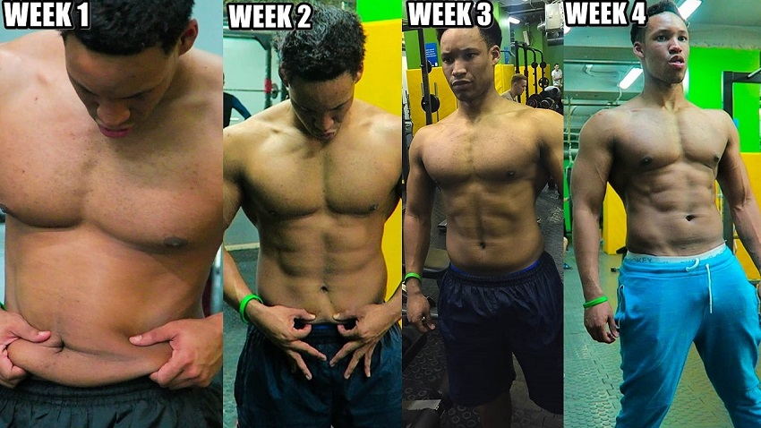 Mike Diamonds' 4-week body transformation