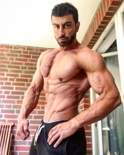 Murat Demir posing shirtless for a photo