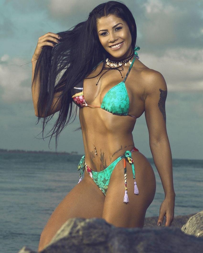 Yasmin Castrillon posing for a picture in a bikini