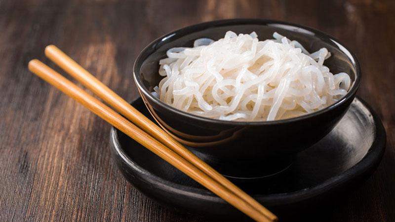 Glucomannan noodles