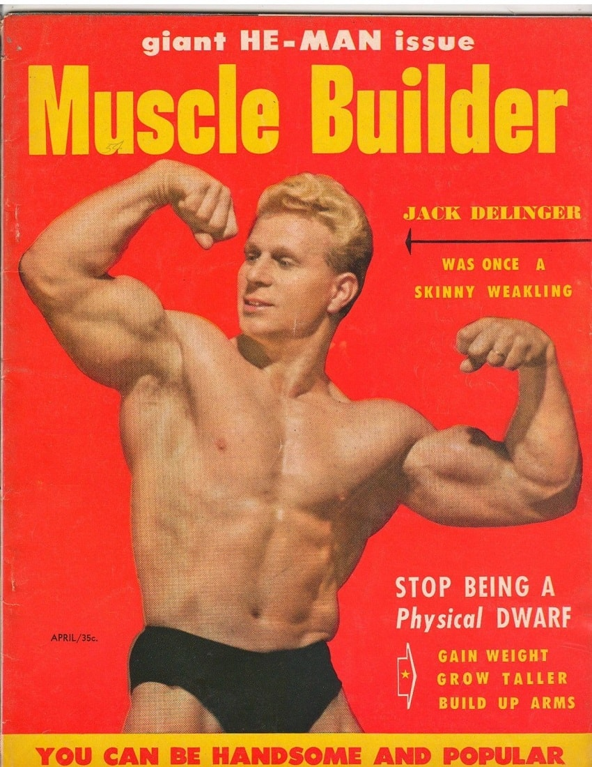 Jack Delinger in a Muscle Builder bodybuilding magazine